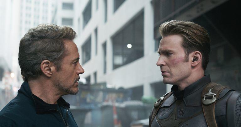 美國隊長在「復仇者聯盟:終局之戰」中和鋼鐵人對手戲最多。圖/摘自imdb