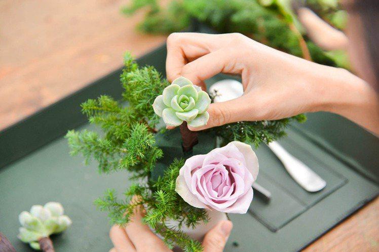 情人節手作體驗 – 郁郁小桌花(圖/有肉 Succulent & Gift提供)
