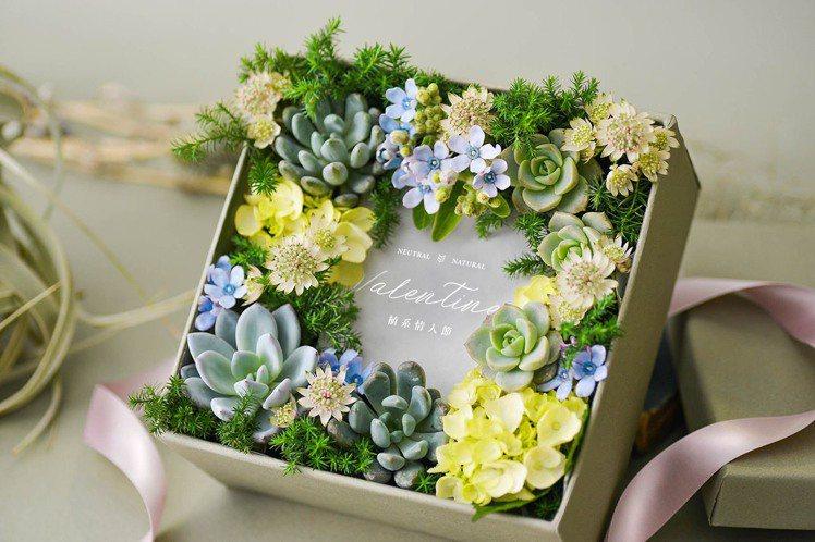 情人節多肉花禮盒 – 蔓蔓植愛(圖/有肉 Succulent & Gift提供)