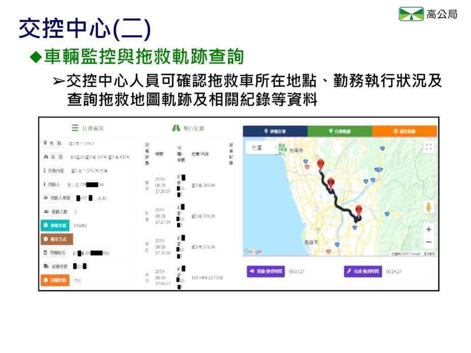 國道拖救車派遣APP元旦啟用。圖/高公局提供