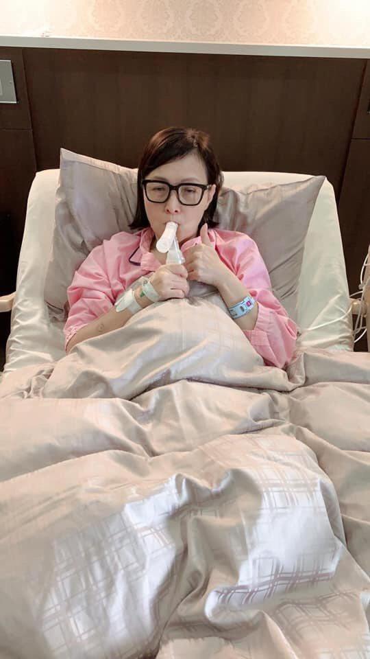 寶媽因肺腺癌入院開刀,對於台灣空污問題無法解決也非常無奈。圖/寶媽臉書