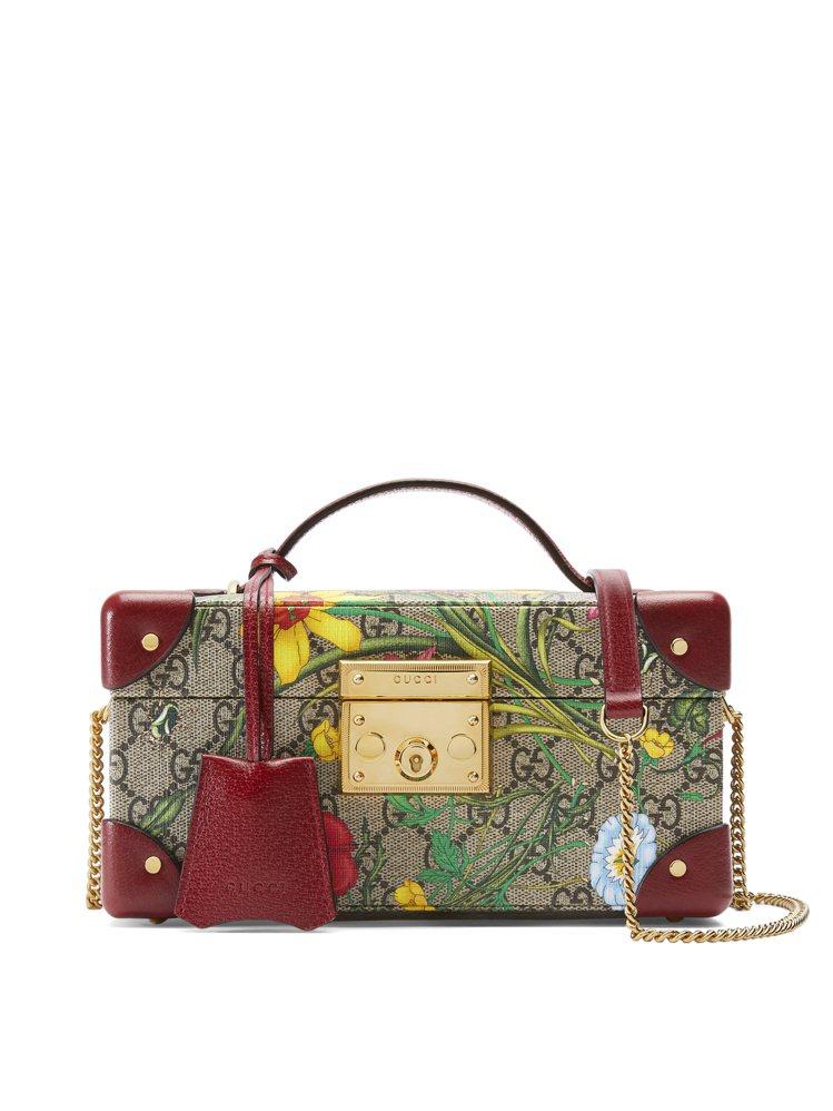 Padlock GG Flora珠寶盒,售價10萬5,500元。圖/GUCCI提...