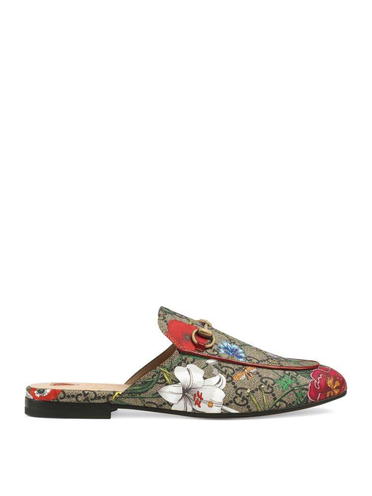Princetown GG Flora拖鞋,售價25,300元。圖/GUCCI提...