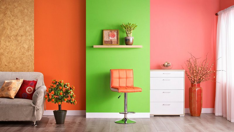 牆面色彩是室內空間最基本卻重要的一環,換上新色就能快速讓視覺感煥然一新。圖/特力屋提供