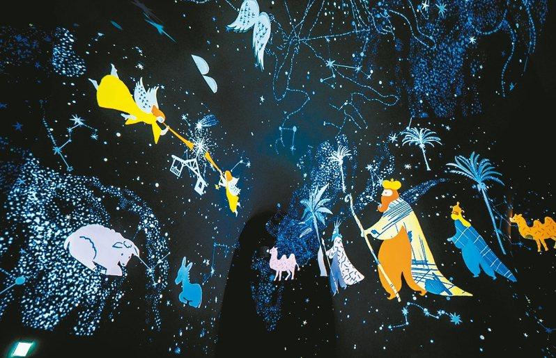 台中國家歌劇院NTT魔幻曲牆光影秀。 圖/歌劇院提供