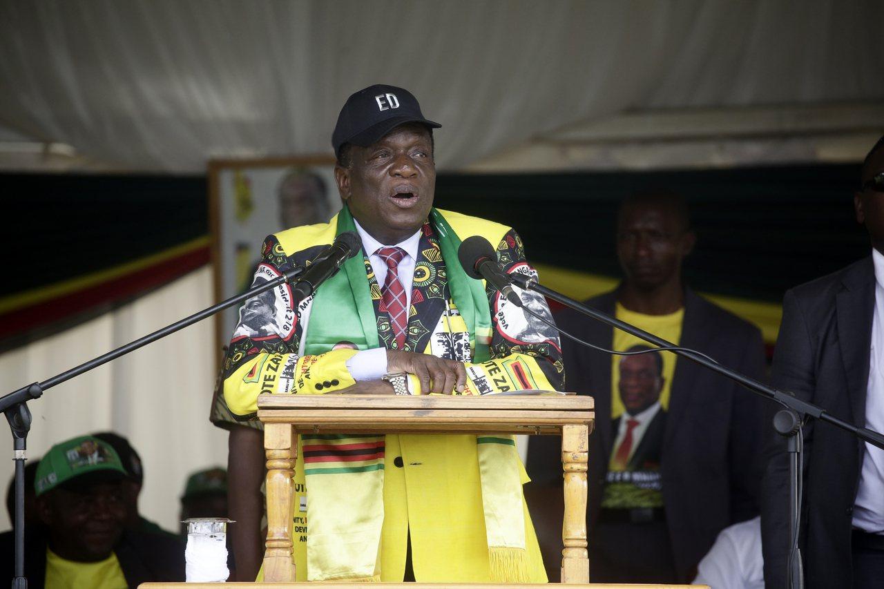 圖為辛巴威總統姆南加瓦(Emmerson Mnangagwa)。 歐新社