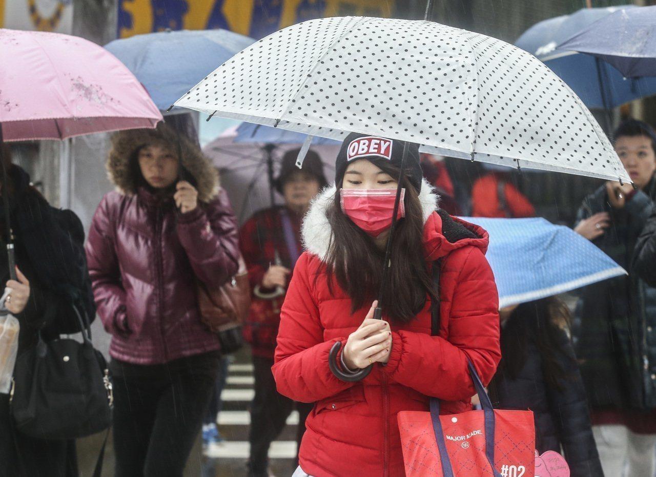 中央氣象局說,今明兩天全台有雨。本報資料照片