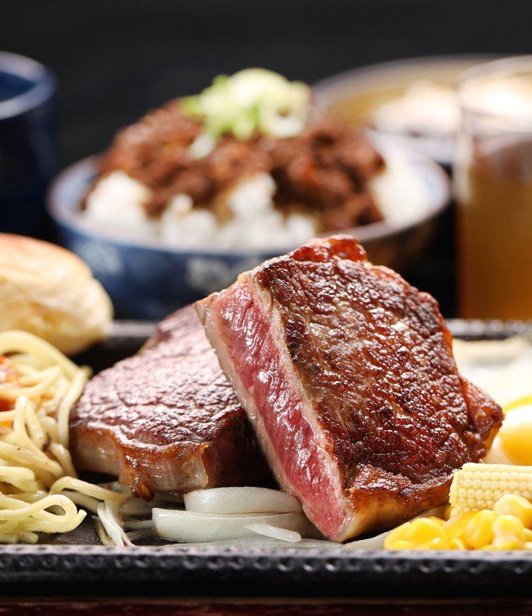 鉄火牛排推出多種獨家牛排提供選擇。圖/鉄火牛排提供