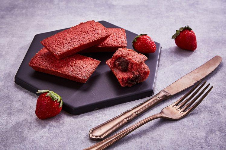 草莓紅鑽費雪禮盒,售價650元(10入)。圖/起士公爵提供