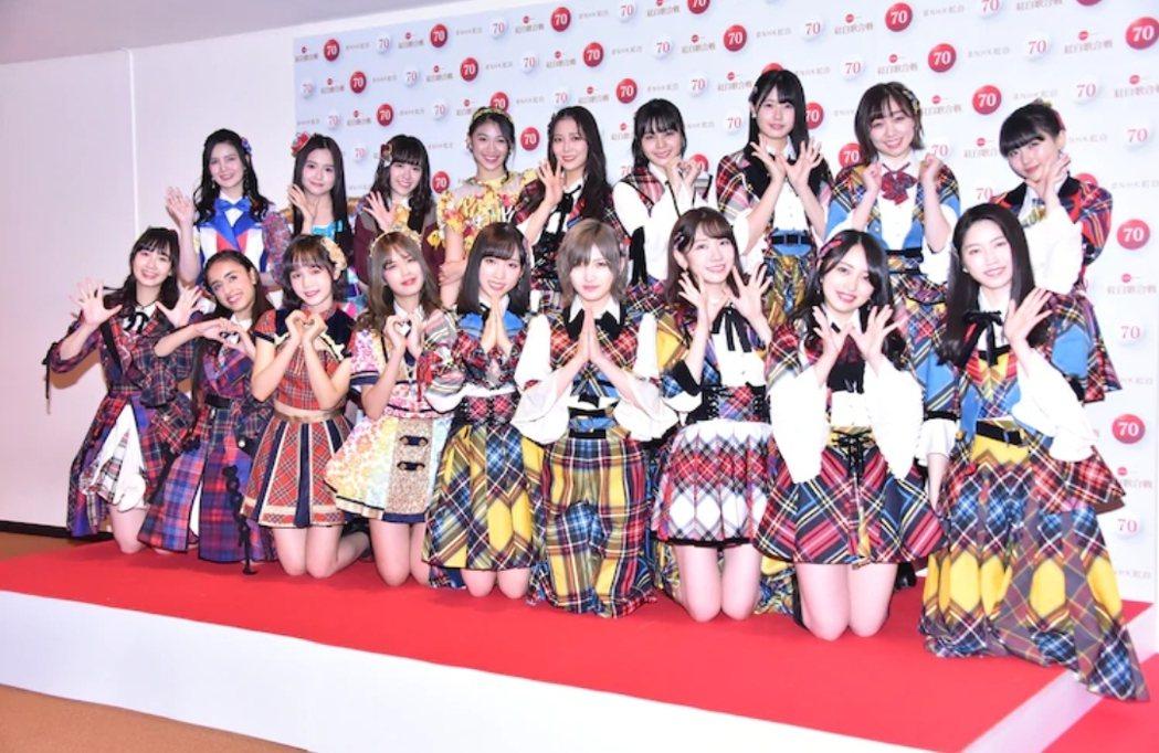 AKB48在後台受訪。圖/摘自Natalie.mu