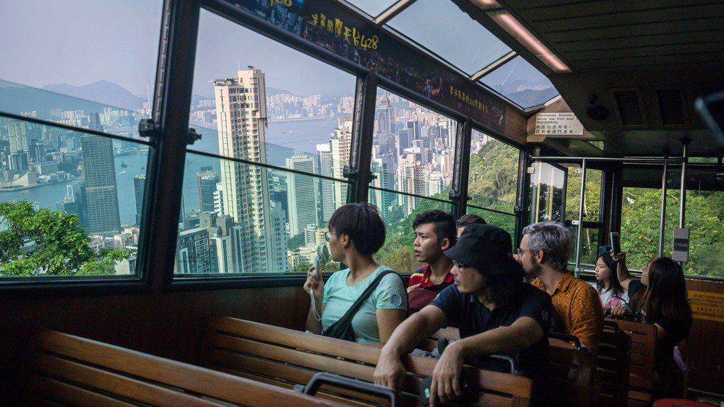 香港太平山纜車一景。 (圖/彭博資訊)