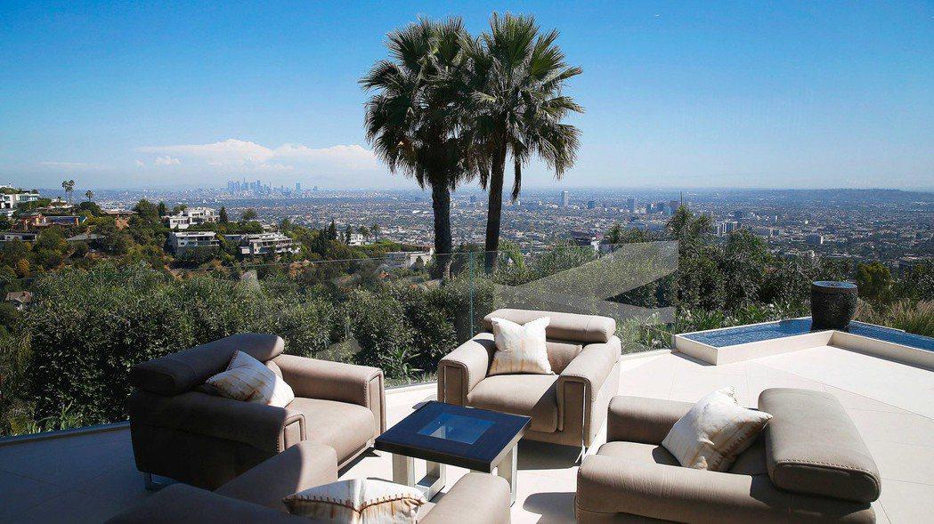 洛杉磯比佛利山莊豪宅Trousdale Estates。 (圖/彭博資訊)