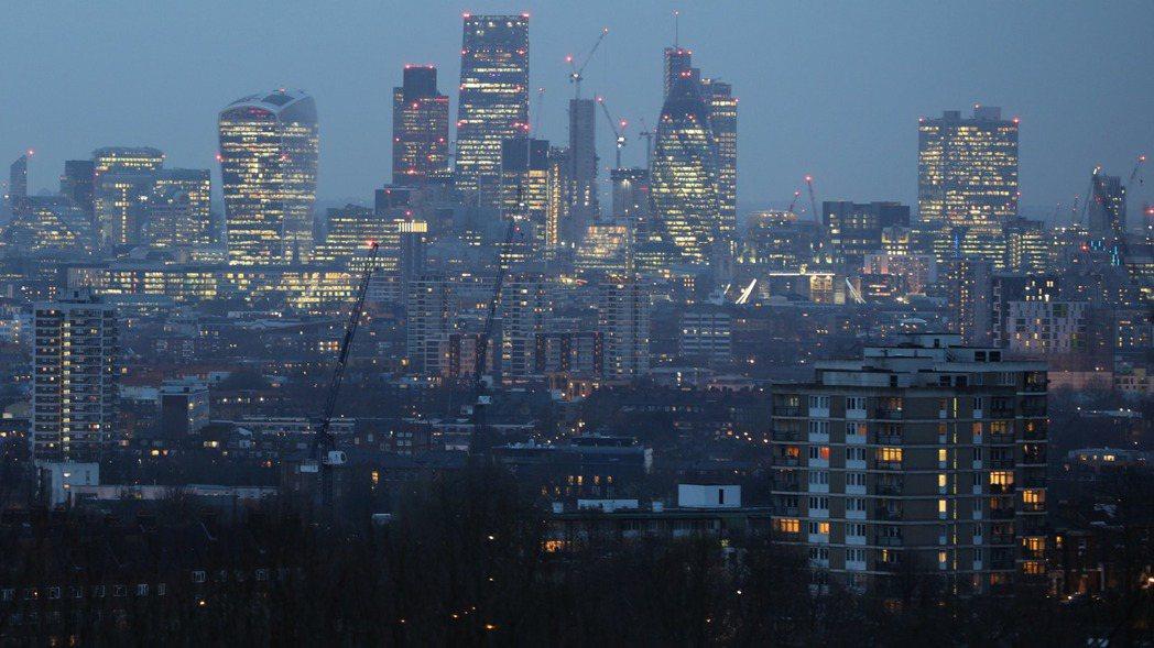 倫敦中央區。 (圖/彭博資訊)