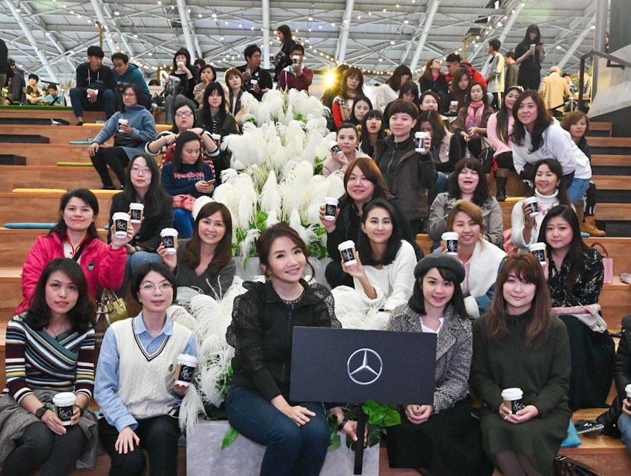 陶晶瑩(前排中)出席講座活動。圖/台灣賓士提供