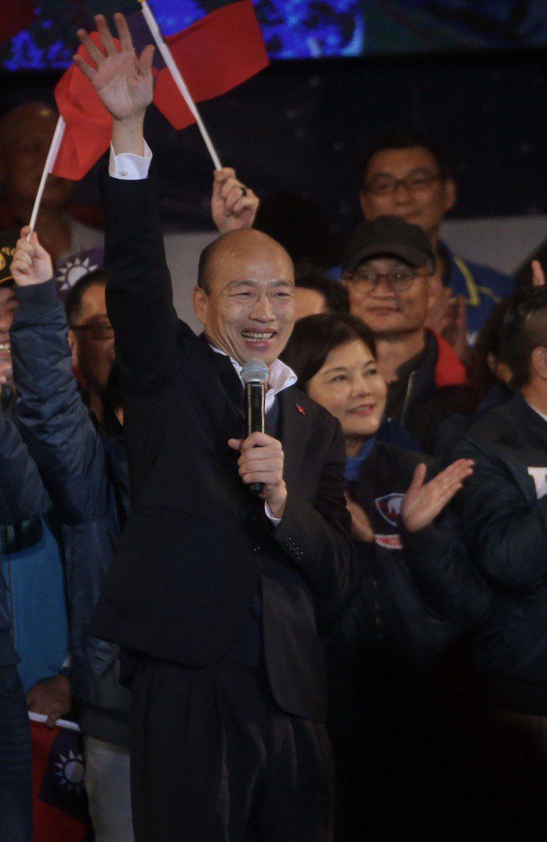 國民黨總統候選人韓國瑜今晚拋出「台灣六塊肌」政策,將台灣分成六大區塊,依照地區特性發展,讓台灣重新被國際社會看得起。記者黃仲裕/攝影