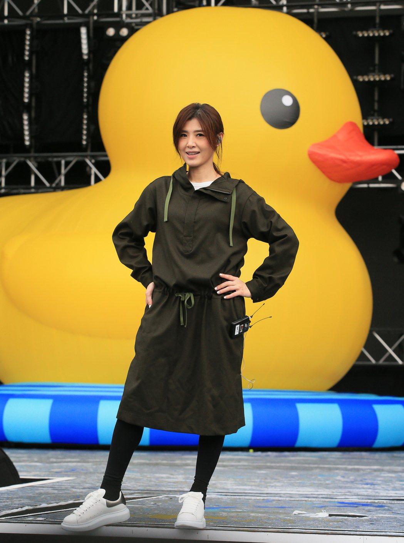 蘇慧倫為台北跨年彩排。記者潘俊宏/攝影