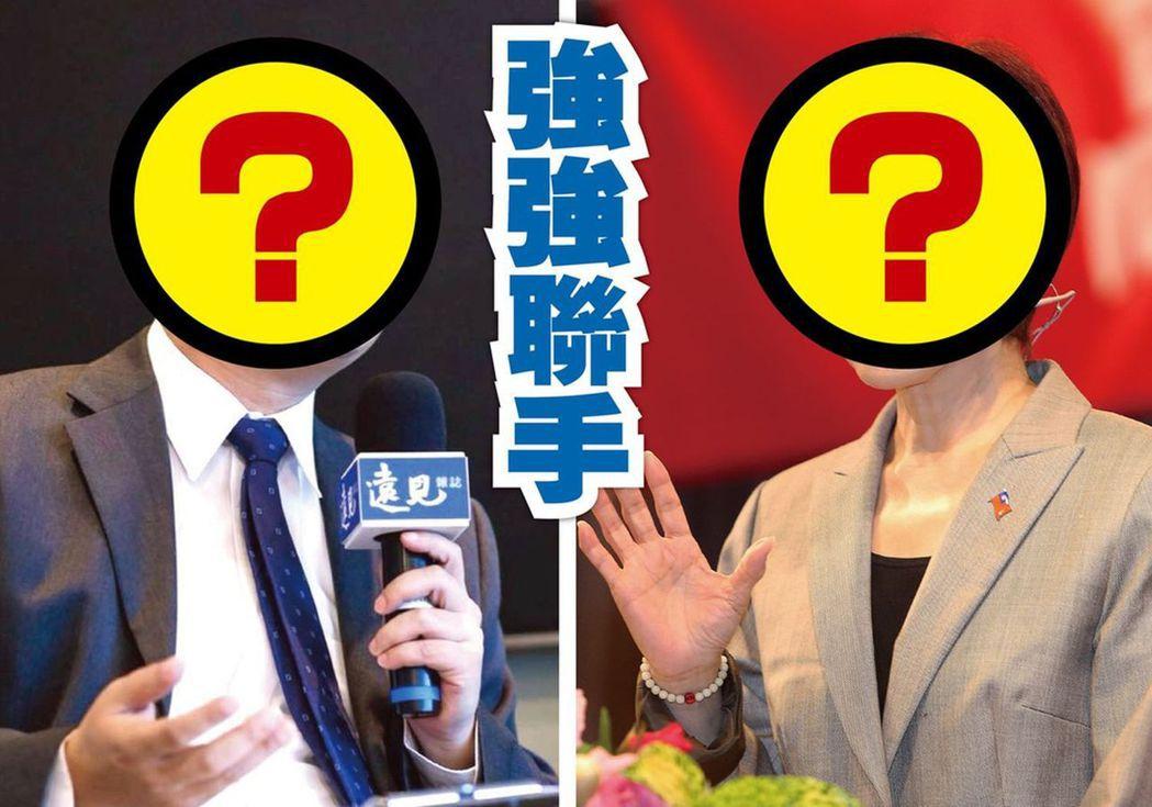 台南立委選戰,國民黨由洪秀柱空降(右)強攻,羅智強則南下游擊助攻。圖/聯合報系資...
