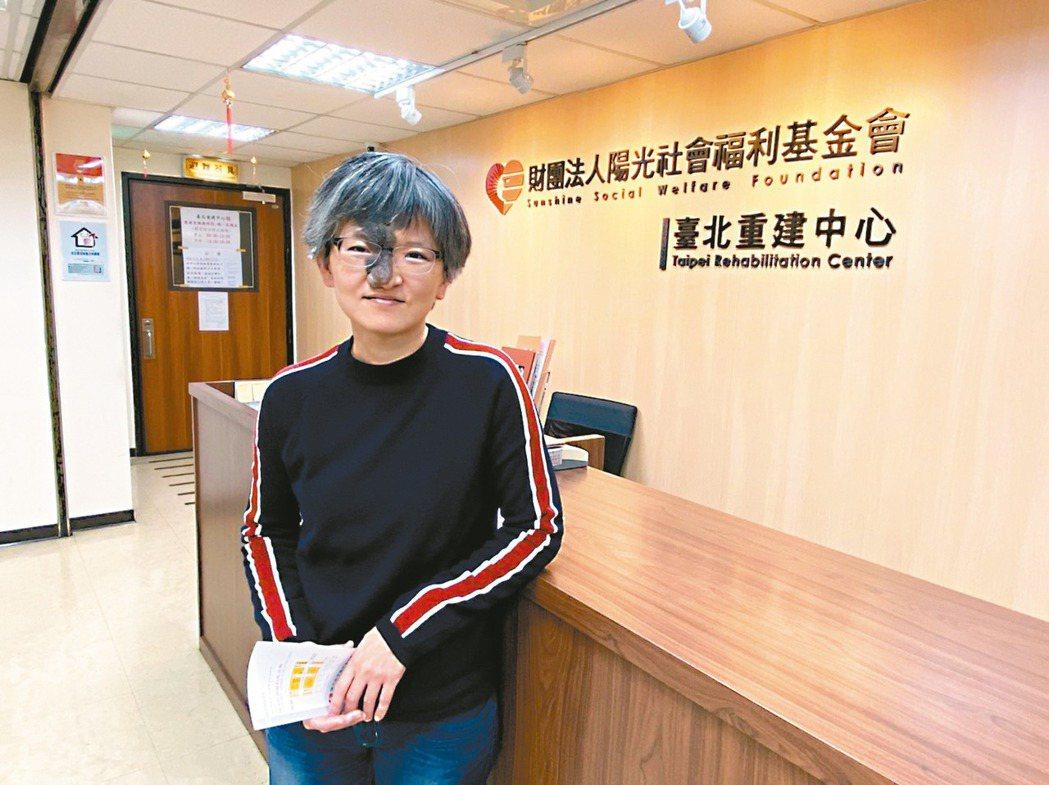 陽光基金會倡導組經理莊麗真表示,希望健保署與醫界能重新檢視顏面血管瘤治療。 記者...