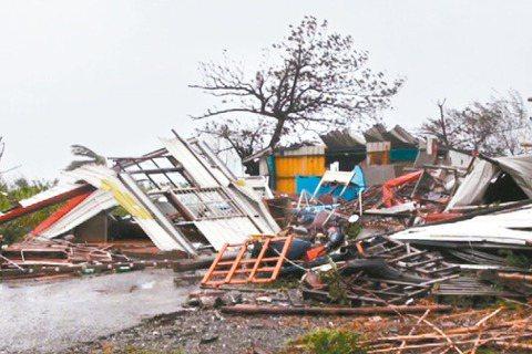 2016年尼伯特颱風重創台東,太麻里鄉一戶人家屋子被夷為平地。 圖/報系資料照