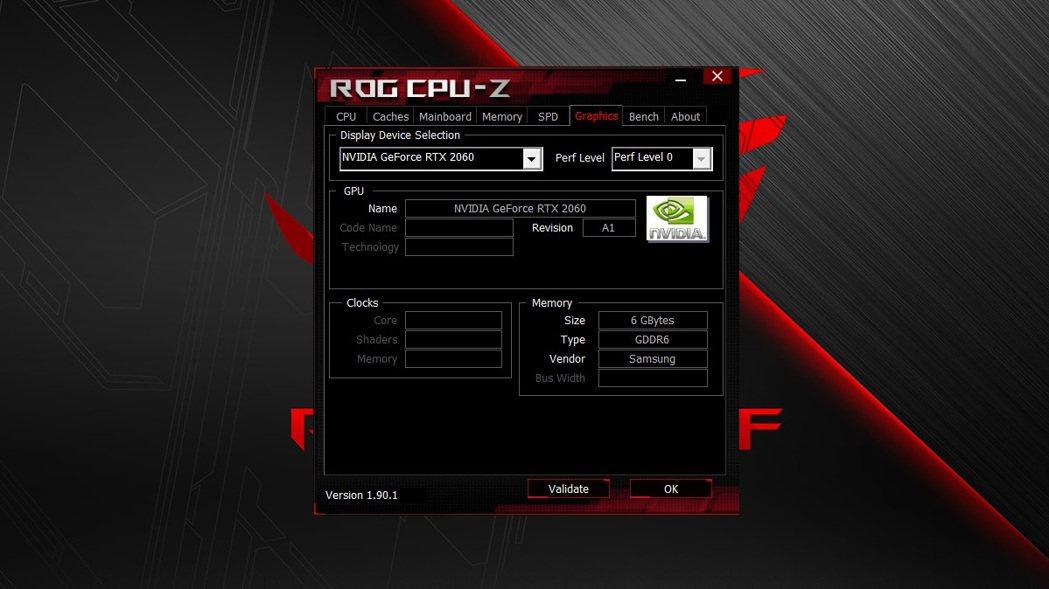 顯示卡為RTX 2060 6GB。 彭子豪/攝影