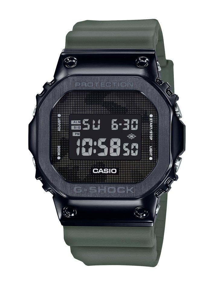 G-Shock GM-5600B-3腕表,鍍黑不鏽鋼表殼6,500元。圖/Cas...