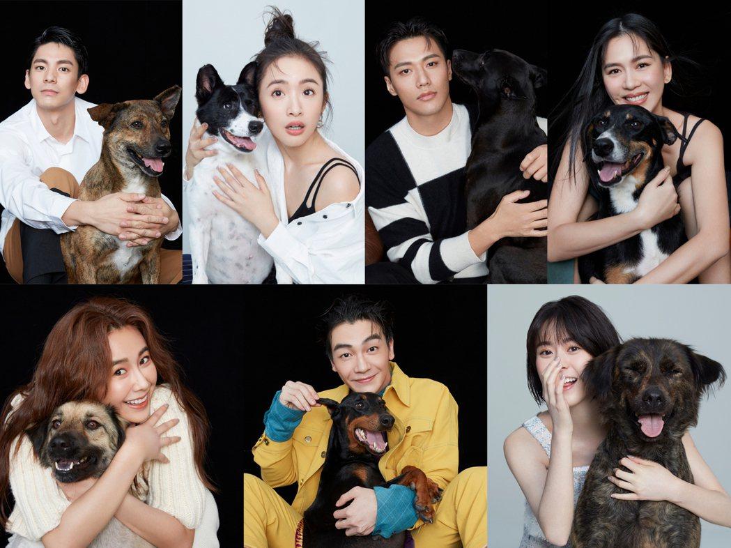 周子娛樂與社團法人中華親善動物保護協會共同合作拍攝年曆。圖/周子提供