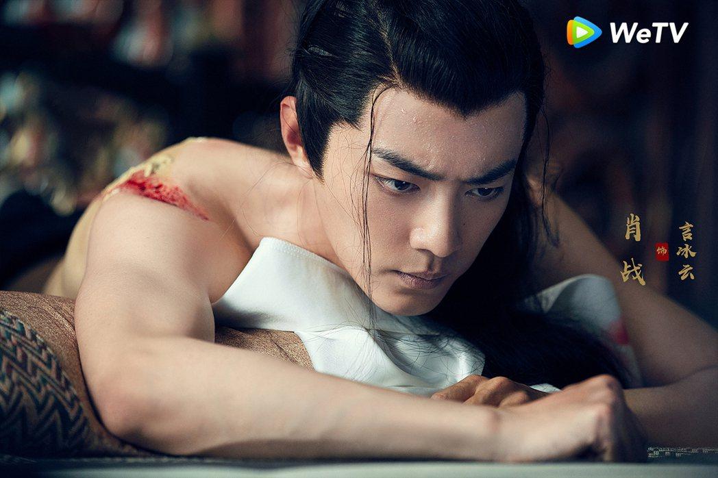 肖戰在「慶餘年」演出言冰雲,自認角色讓他頭疼。圖/WeTV提供