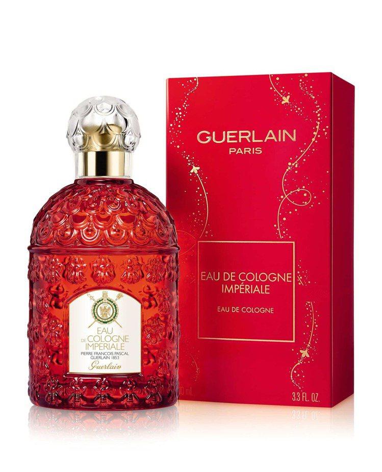 嬌蘭帝王香水金燦紅緋新年限量版/100ml/3,950元。圖/嬌蘭提供
