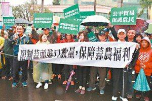 雲林蒜農北上抗議 促調高關稅