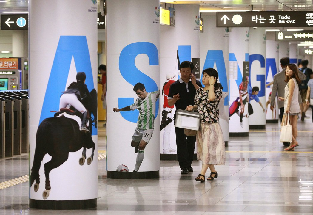 圖為南韓地鐵一處車站。 (美聯社)