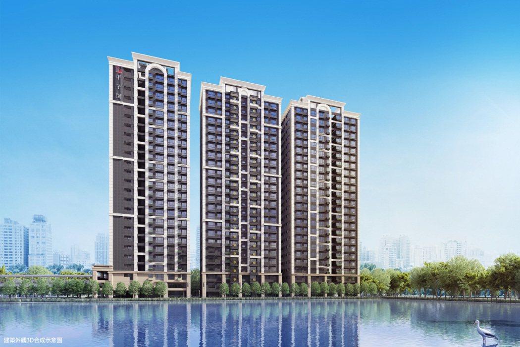 「竹城甲子園」位於4730坪滯洪池公園景觀首排。 圖/竹城建設 提供