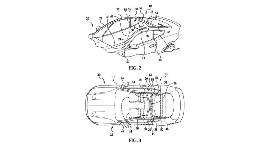 福特會在車頂上加上兩道橫樑確保車體剛性。 摘自Carscoops