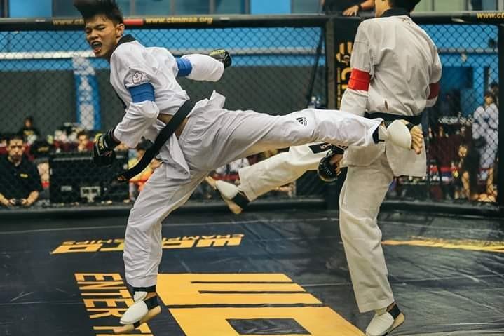 1月在臺北舉行的WOTD搏擊比賽,前亞運會金牌得主魏晨陽代表隊參賽