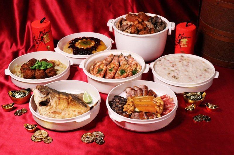 台北士林萬麗酒店2020富貴團圓年菜外帶組合 ,約5-8人份。 業者/提供