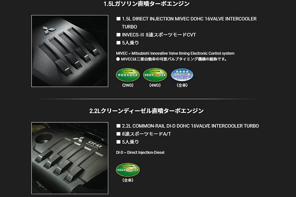 日規三菱Eclipse Cross除1.5L MIVEC燃油直噴渦輪增壓引擎(1...