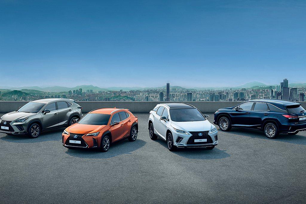 Lexus汽車歐洲分公司日前宣布旗下SUV陣容累積銷售達50萬輛規模。 圖/Le...