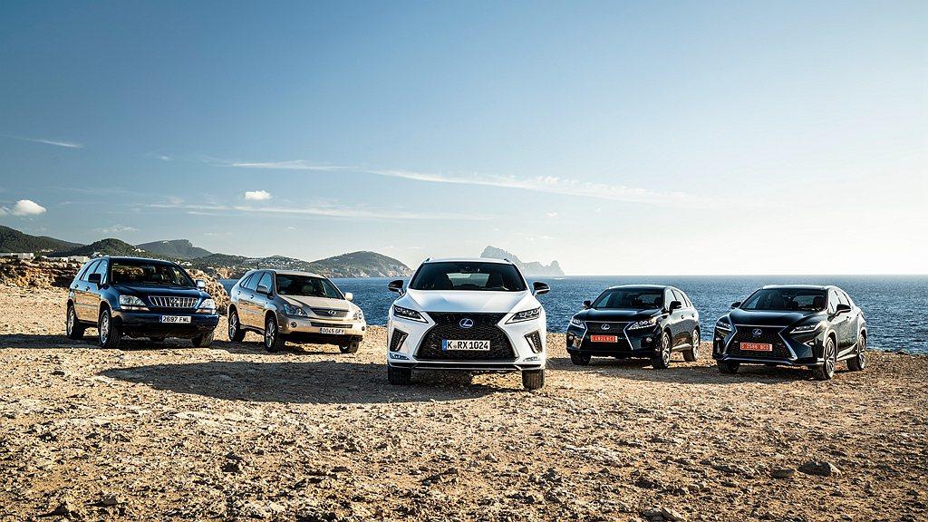 截至2019年11月底已經發展到第四代的Lexus RX,在歐洲已經累積銷售超過...