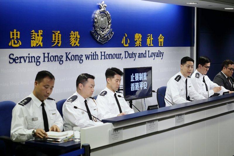 圖為香港警方召開記者會,攝於12月30日,香港。 圖/新華社