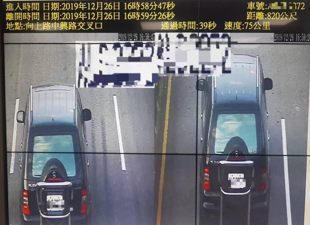 台中市警局在沙鹿區向上路六段、台61線西濱快速道路等3處地點設置區間測速,明年1...