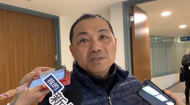 新北市長侯友宜表示,感謝台水台電的配合,但希望改善汰換可以越快越好。記者張曼蘋/攝影