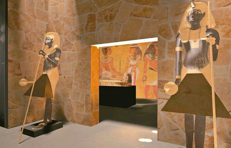 「墓室還原區」3D圖,千年古墓還原體驗。   圖/聯合數位文創提供