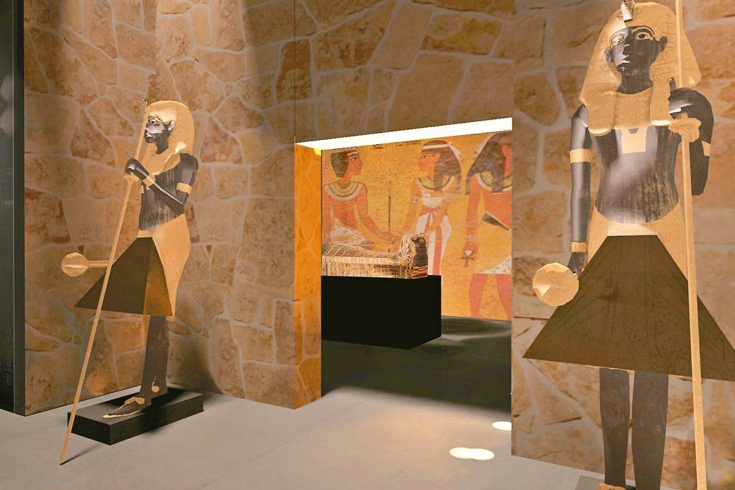 圖坦卡蒙展覽5個展區展示古埃及的傳說