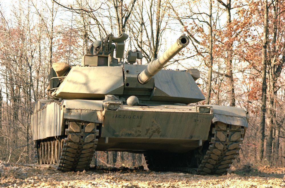 配備M68A1型105毫米口徑線膛炮的M1戰車。圖/翻攝自維基百科