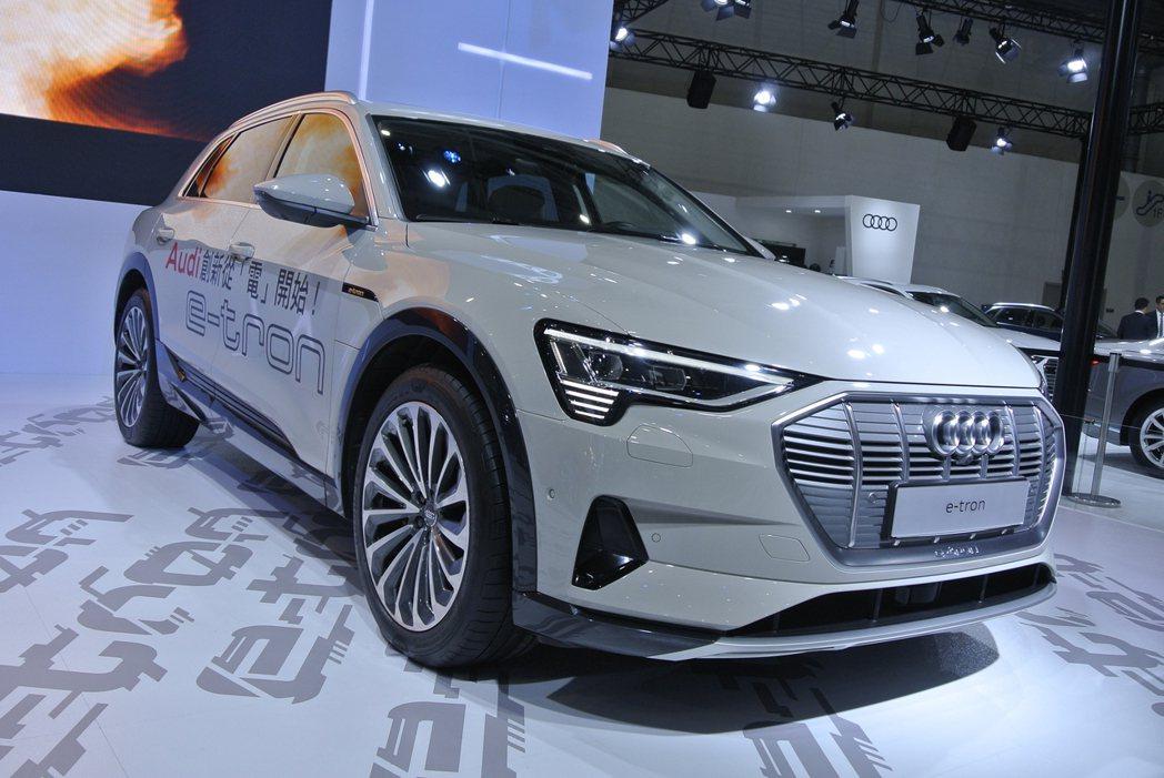 Audi首款純電動車e-tron。 記者黃俐嘉/攝影