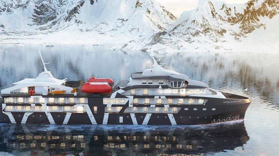 南極21遊輪公司的「麥哲倫探險家號」遊輪去年11月啟航。圖/取自Chimu Ad...