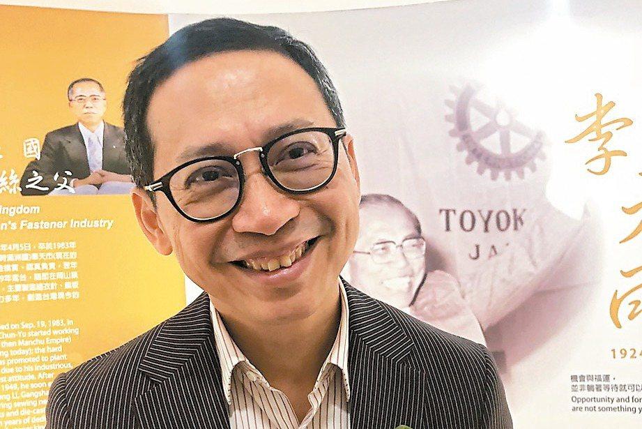 榮剛董事長王炯棻對新年度有信心。 記者林政鋒/攝影