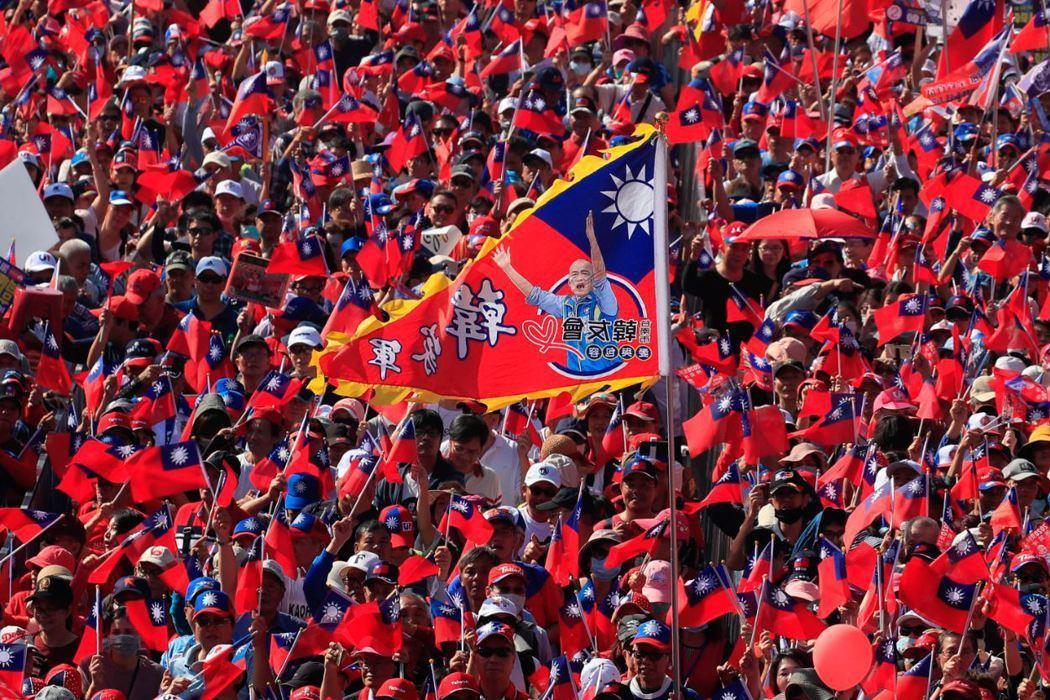 12月21日高雄挺韓遊行。 圖/歐新社