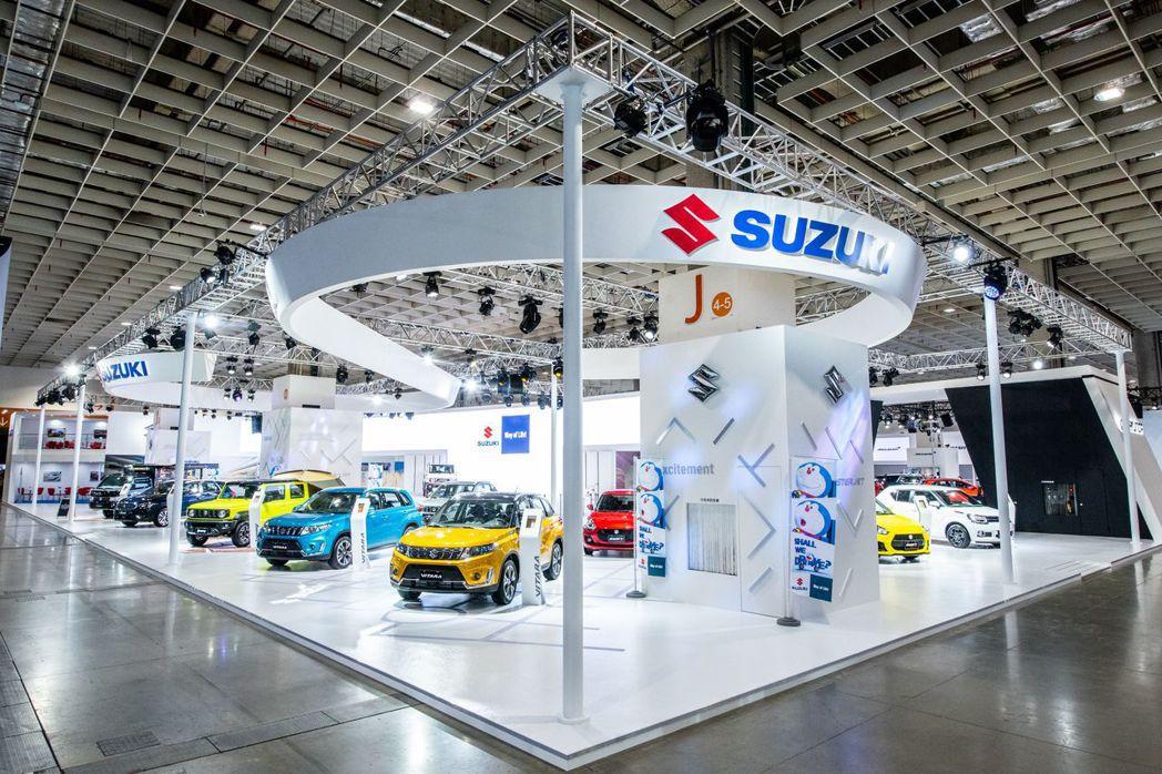SUZUKI全車系盛大展出,並針對Jimny車款加裝各式日本原裝配件打造Jimn...
