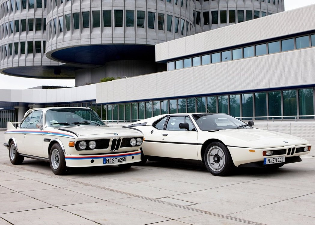 BMW 3.0 CSL與BMW M1。 圖/BMW提供