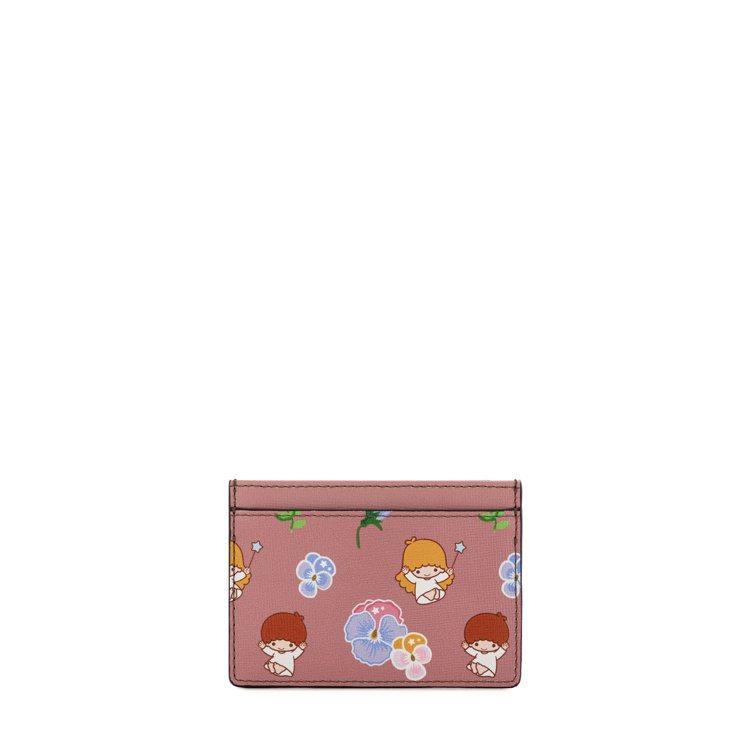 Furla與Kiki、Lala聯名系列卡夾3,050元。圖/嘉裕提供
